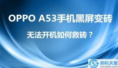 OPPO A53手机黑屏变砖,无法开机如