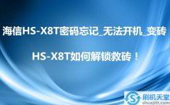 海信HS-X8T密码忘记_无法开机_变砖