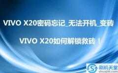 VIVO X20密码忘记_无法开机_变砖,VIVO X20如