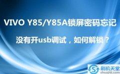 VIVO Y85/Y85A锁屏密码忘记,没有开usb调试,